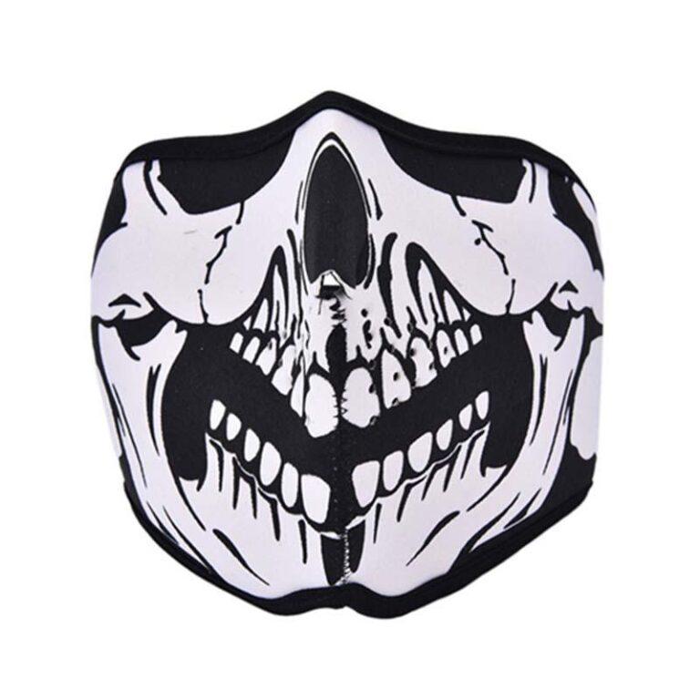 El top de máscara neopreno calavera
