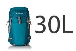 El top de mochila de 30 litros