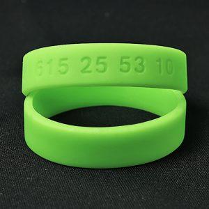 Lista de pulsera identificativa de silicona para ti